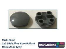 Lego 2x2 round plate dish Slide shoe x 10 pieces Part 2654 choose your colour.
