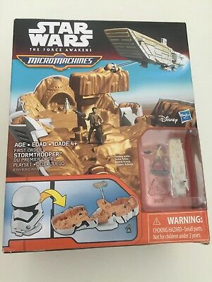 Star Wars The Force Awakens Micro Machines First Order Stormtrooper Playset 4+