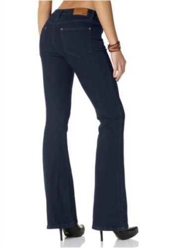 Arizona Jeans K-Gr.17,18,19,20,21,22 Damen Hose Stretch Bootcut Rinsed Blau L30