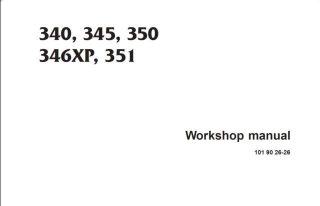 Husqvarna Chainsaw 340 345 350 351 346xp Service Shop Manual Ebay