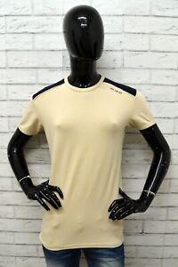 Maglia-LEE-Donna-Taglia-Size-XL-Maglietta-Shirt-Woman-Cotone-Beige-Maniche-Corte