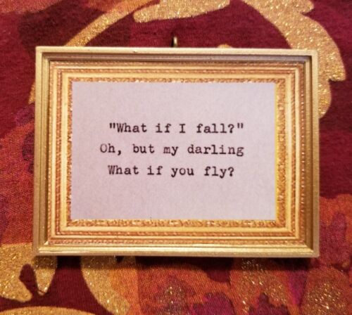 Evan Hanson Quote What If I Fall What If You Fly Handmade Christmas Ornament
