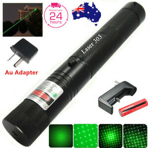 Military High Power Green Laser Pointer Pen - 18650 Battery & Charger AU Adapter 602822684934