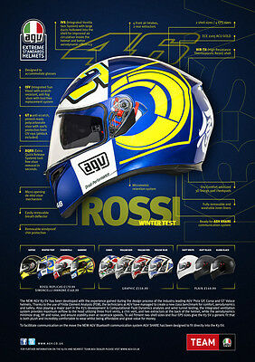 AGV K3 SV WINTER TEST BLUE 2016 VR46 CORSA PISTA SEPANG MALASIA VALENTINO ROSSI