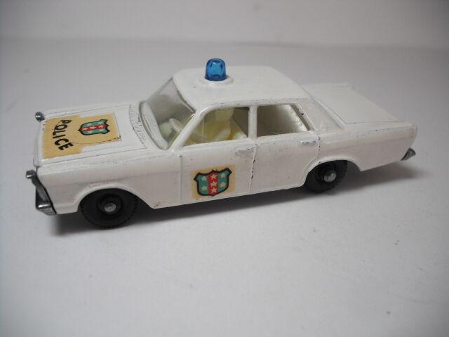 MATCHBOX  55 59C Resto-Mod RARE FORD  GALAXIE police. Dôme Swap  réductions et plus