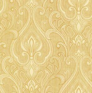 Art Deco Wallpaper Vintage Damask Wallpaper Shimmer Cream Gold