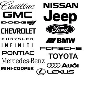 17-Car-Company-Logo-Automaker-Sponsor-Decal-Pack-BMW-Audi-Lexus-Toyota-Mini-etc