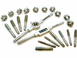 """Fine 24pc Set UNF UNC Imperial SAE Tap And Die Set 1//8/"""" 1//2/"""" Coarse"""