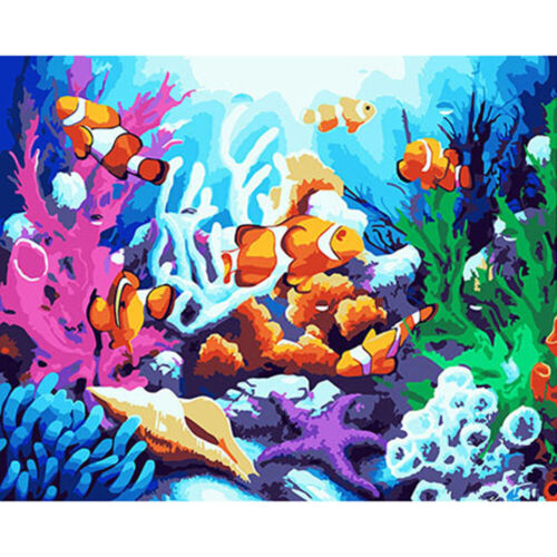 Painting By Numbers Kit DIY Canvas Oil Art Picture Home Wall Decor Wall Decor
