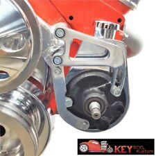 Small Block Chevy Chrome Aluminum Power Steering Bracket Long Water Pump 350