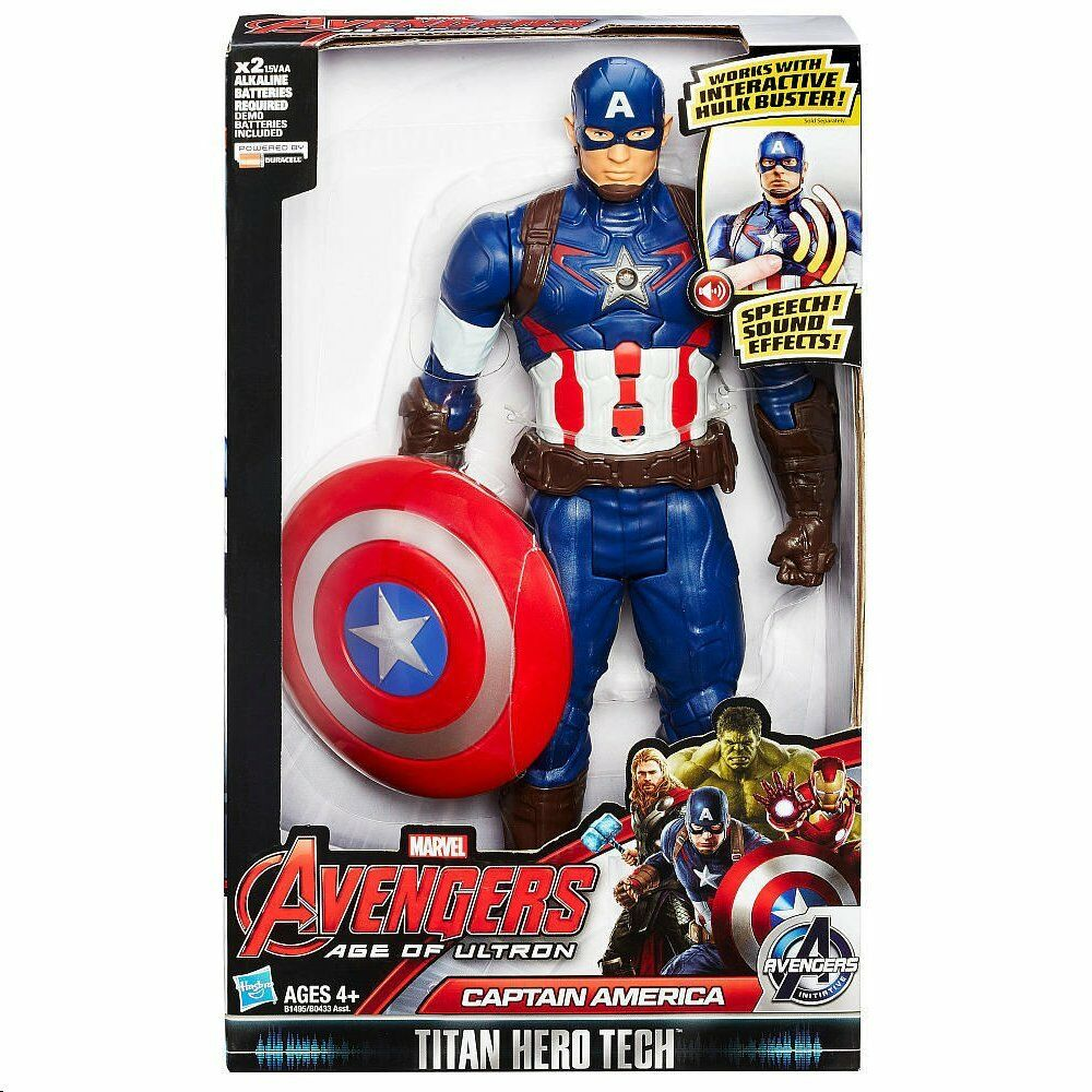 Elektronische captain america (marvel avengers  alter ultron) titan - action - figur