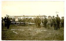 Strawberry Point Iowa IA-CURTISS BIPLANE AT FAIR-RPPC Postcard Airplane
