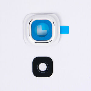 Samsung-Galaxy-S6-Replacement-Camera-Lens-Glass-Frame-Photo-Front-Lens-White