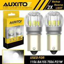 2x Auxito 1156 Ba15s Backup Reverse Tail Brake Lights Parking Led Blubs 6000k Ea