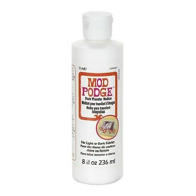 MOD PODGE Photo Transfer Medium 8 oz Bottle For Fabrics or Hard Surfaces