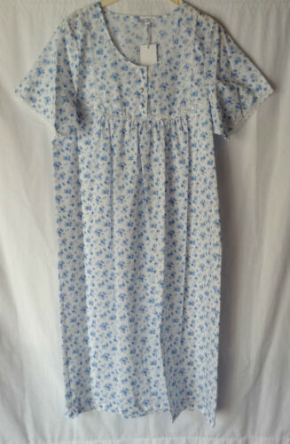 NEW WOMENS PLUS SIZES 10-30 POLY//COTTON SHORT SLEEVE CREW NECK NIGHTIE NIGHTY