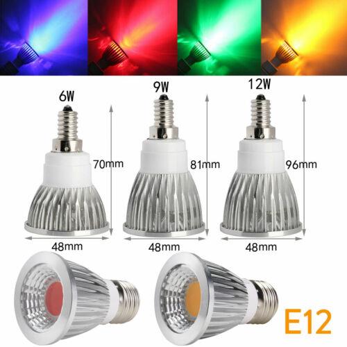 Dimmable B22 E14 E27 GU10 GU5.3 6W 9W 12W LED COB Spot Light Bulbs Lamp Bright