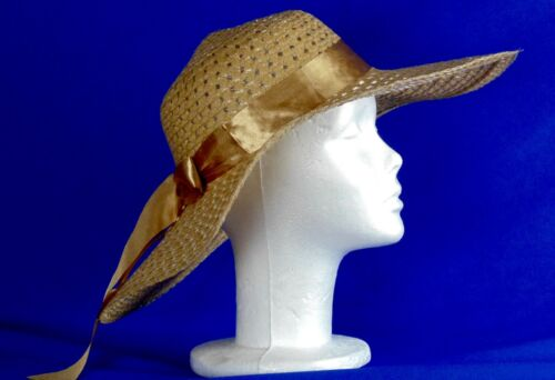 Elegant Women/'s Large Floppy Hat With Bow-Vacation Style Summer Beach Straw Hat
