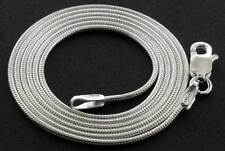 """925 STERLING SILVER 18"""" ROUND SNAKE LIZARD CHAIN LINK PENDANT NECKLACE CHOKER"""