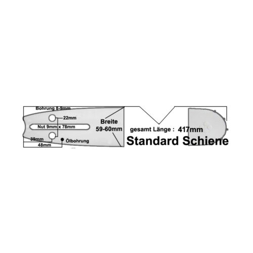 2 Ketten Schwert 35cm 3//8*1,3 passend für Castor CP360  361  370  380  391