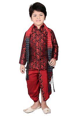 Di Carattere Dolce Baby Boys Gandhi Combo Cappuccio Tuta Pantalone Sherwani Nozze Abito Partywear (dc-9987)-mostra Il Titolo Originale