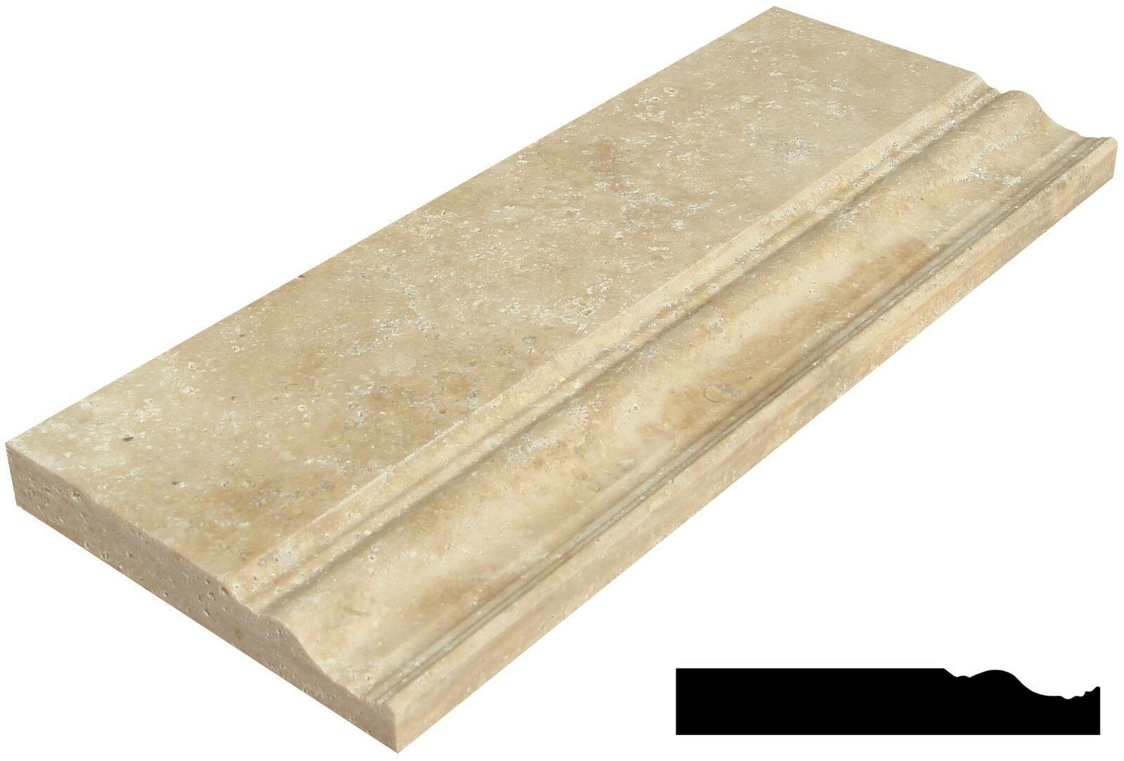 Noce Tragreenine 5 x12  Marble Molding ( 17 Per Molding)