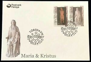 Faroe-FDC-2007-10-01-Mary-amp-Christ-Full-Series-XF