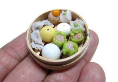 Steamed Buns Dim Sum Chinese Handmade Dollhouse Miniatures Food 3.50 cm 3