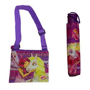 Mia & Me Rose Parapluie Sac Bandoulière Set Fée Licorne Fille Week-end Princess Kit-afficher Le Titre D'origine Cool En éTé Et Chaud En Hiver
