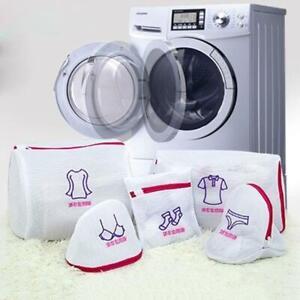 Mesh-Zipp-Waeschepflege-Waschbeutel-Faltbarer-BH-Socken-Unterwaesche-Schutzne-L9H9