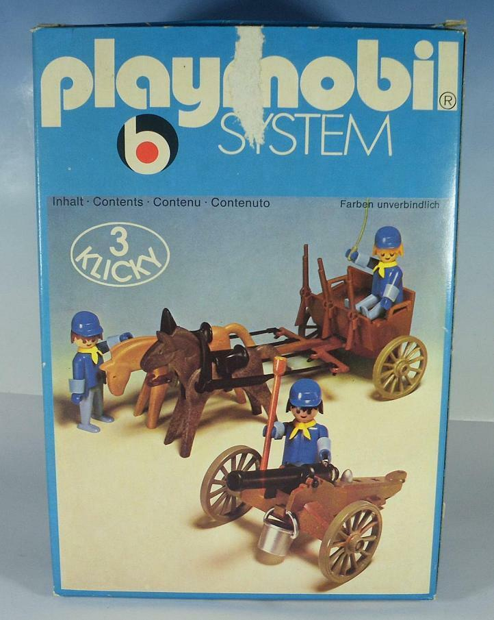 Playmobil Klicky 3244 Western Nordstaaten Protze & Kanone in O-Box 70er Jh 25