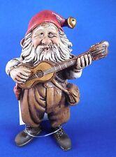 "Guitar Gnome Figurine by Kjell Midthun 4"" tall 3"" wide Norwegian Folk Art"