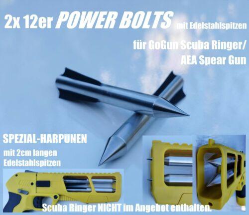 2x Power harpoons flèches pour gogun Scuba Ringer//AEA Spear Gun avec Acier Inoxydable Pointu