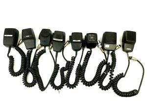 Lot-of-8-CB-Ham-Radio-Mic-Microphones-Midland-Cobra-Courier-Astro-Line-Parts-VTG