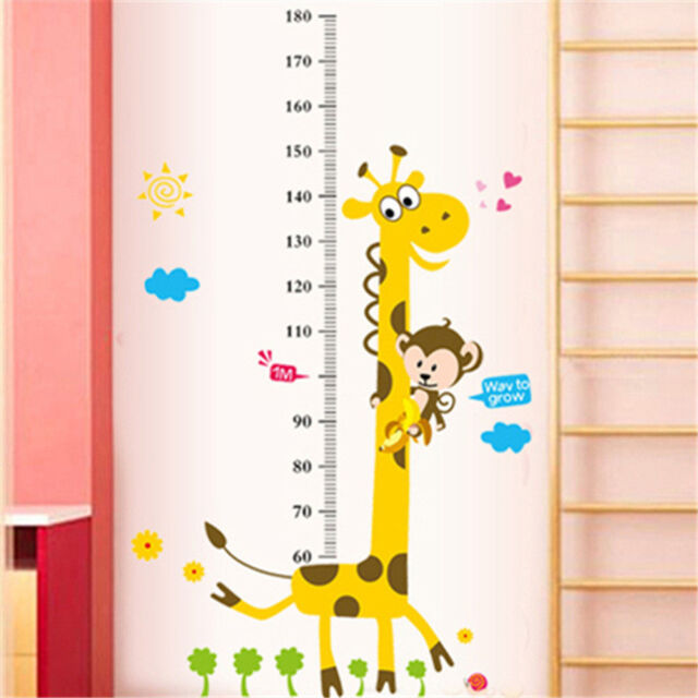 Removable Height Growth Chart Measure Wall Sticker Kid Boys Girls