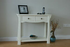 Cream Hall Table white / cream / hall table / console / side / end table | ebay