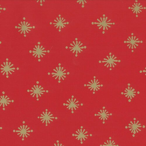 97091RC Caspari Starry Red Gift Wrap Roll