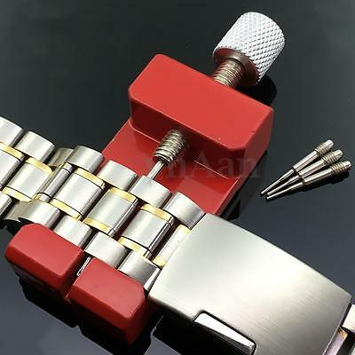 Adjustable Metal Watch Band Bracelet Strap Link Remover Repair Tool With Pins