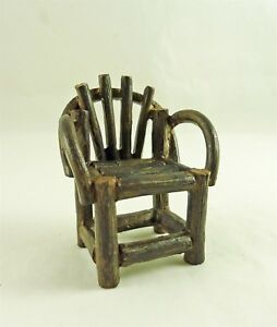 Closeout-Dollhouse-Miniature-Rustic-Vine-Chair-2222