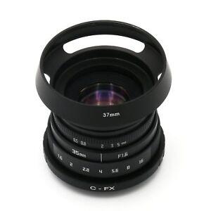 Neue-Fujian-35mm-F1-6-CCTV-TV-Movie-Lens-C-Mount-fuer-Fuji-Fujifilm-X-Pro1-Hood