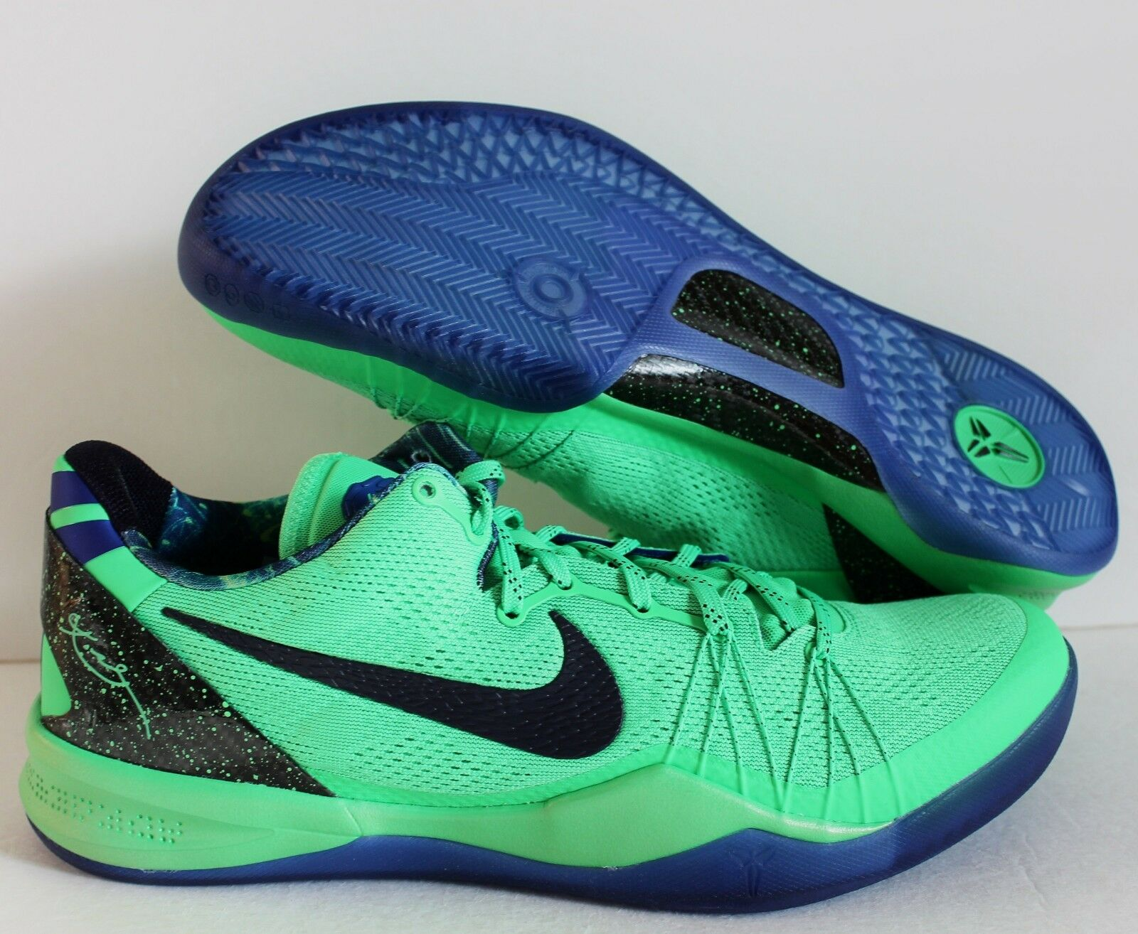 NIKE KOBE 8 VIII SYSTEM ELITE SUPERHERO POISON GREEN-BLUE Price reduction New shoes for men and women, limited time discount