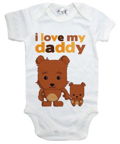 "Dirty Fingers /"" I Love My Daddy /"" Teddybären Baby Body Baby Vater Tag Geschenk"