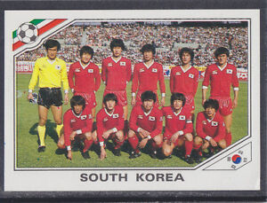 Panini-México 86 Copa Del Mundo - # 91 Corea del Sur Team Group  </span>