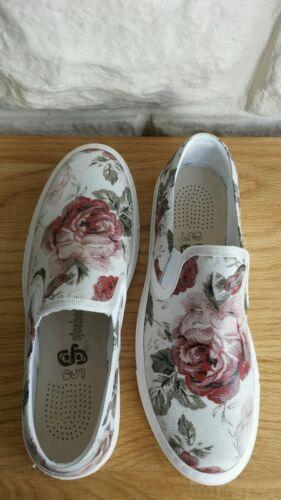 5 £ Los floreale 121 k Rrp ginnastica Ojo con pelle da Dimensioni stampa U Bnib scarpe in qZ8BOHO