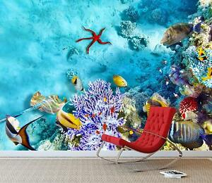 Details About Underwater World Wall Mural Photo Wallpaper Tropical Fish Aquarium Corals Decal