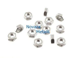 100 dadi esagonali M2 zincati medi ecrous hexagonal tuercas nuts Muttern