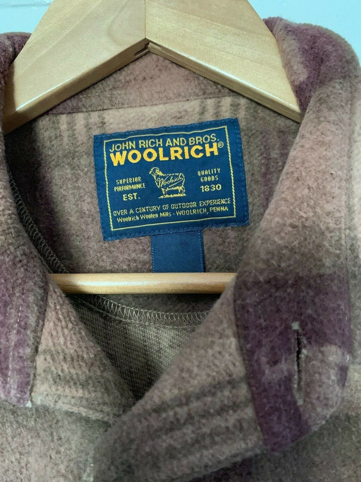 Vintage John Rich and Bros. Woolrich Button Down … - image 2
