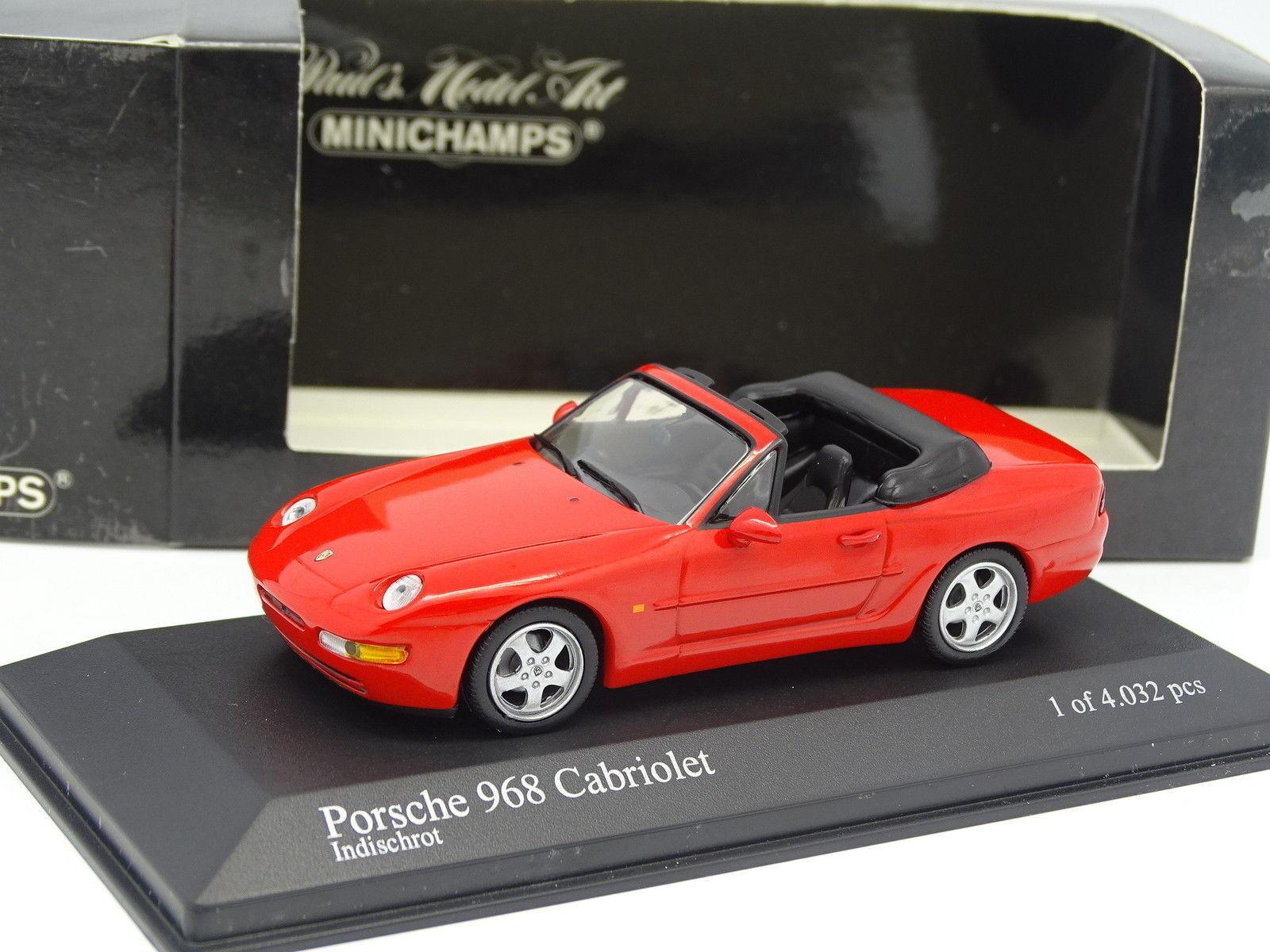 Minichamps 1 43 - Porsche 968 Cabriolet Rouge