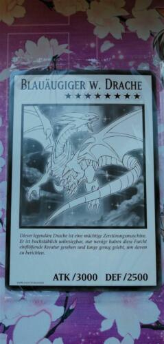 "YUGIOH! /""Blauäugiger w Drache/"" DUOV-DE-V1 Common Near Mint 1.Ed!"