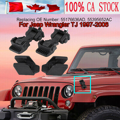 NEW HOOD CATCH /& BRACKET PAIR LATCH FIT FOR 2007-2016 JEEP WRANGLER